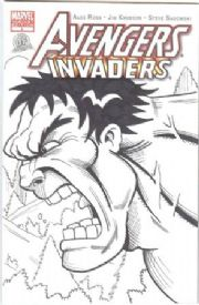 Avengers Invaders #1 Dynamic Forces Authentix Variant Signed Remarked Hulk & Wolverine Sketch